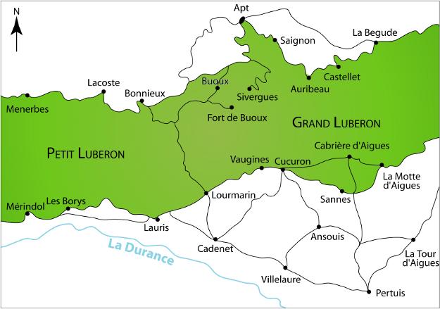 Carte du sud Luberon